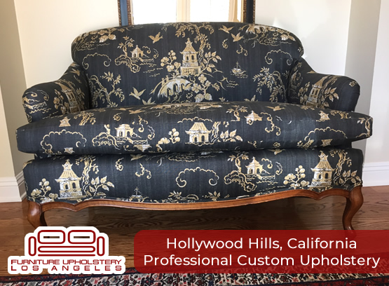professional upholstery in hollywood hills california