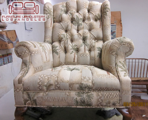 Wing Back Chair Tufted Back